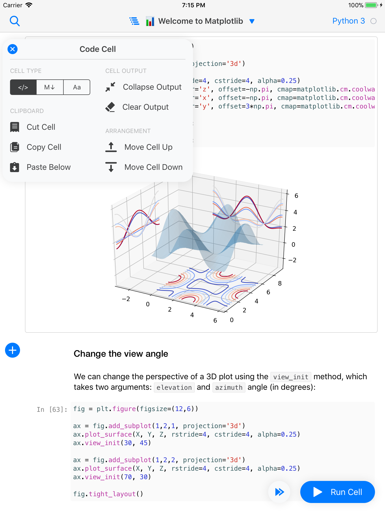Jupyter client for iPad - Alex Staravoitau's Blog
